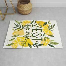 Zest for Life – Yellow & White Palette Rug