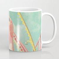 ostrich Mugs featuring Ostrich by Cassia Beck