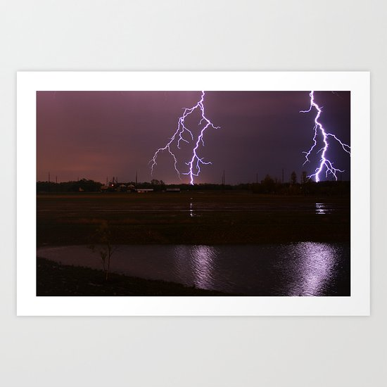 Twin Light Art Print