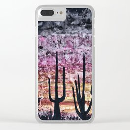 Cactuses Clear iPhone Case