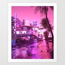 Vice City Nights Art Print