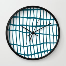 Net Blue on White Wall Clock