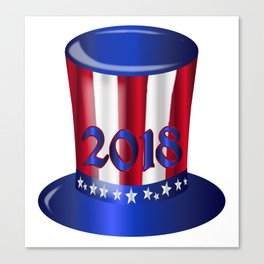 Uncle Sam 2018 Flag Hat Canvas Print
