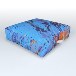 American Dream Abstract Art Red Gold And Blue Outdoor Floor Cushion