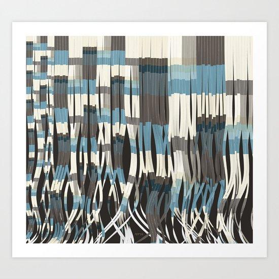 Abstract Graphic Ribbons Art Print