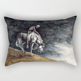 Skeleton Riding a Pale Horse Rectangular Pillow
