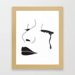 I Cried Galaxies Framed Art Print