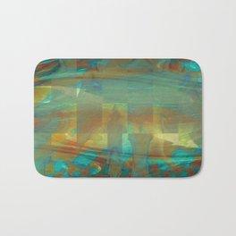 Abstract Watercolor Fractal Art ~ Aurokel Bath Mat
