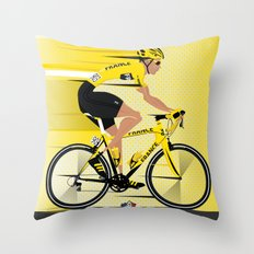 France Yellow Jersey Throw Pillow