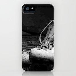 Vintge Skates-B&W iPhone Case