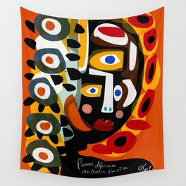 African Woman is dreaming in the sunrise Wall Tapestry