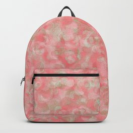 Salmon Blush with Olive Gold Accents Backpack