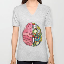 Bom Brain Unisex V-Neck
