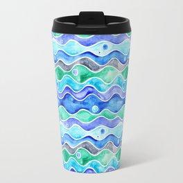 Ocean Pattern - Dolphin Travel Mug