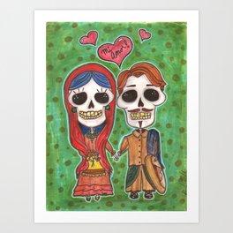 Te Amo Day of the Dead Art Print