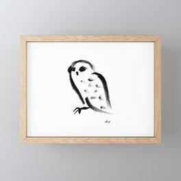 Snow owl - fusion of pen strokes Framed Mini Art Print