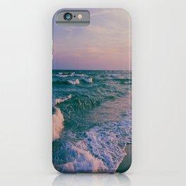 Sunset Crashing Waves iPhone Case