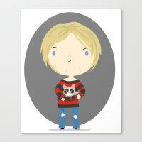 kurt cobain Canvas Prints featuring Cat Cobain by Maria Jose Da Luz