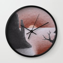 Desert Sun Wall Clock
