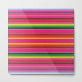 Zarape Pink Metal Print