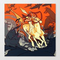 western Canvas Prints featuring Western by Jemma Salume