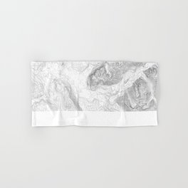 NORTH BEND WA TOPO MAP - LIGHT Hand & Bath Towel