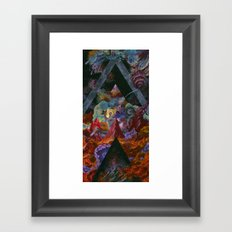 The mysterious land of truth and failures Framed Art Print