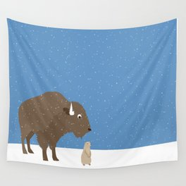 buffalo & prairie dog - I've got you covered Wall Tapestry