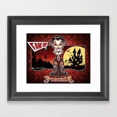 Dracula...Fangs you! (Lugosi style) Framed Art Print