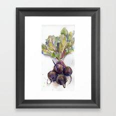 Purple Beets Framed Art Print