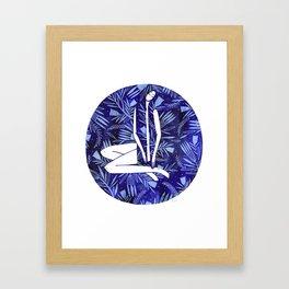 BlueGirl Framed Art Print
