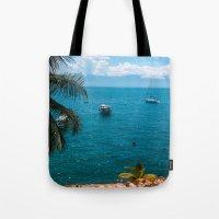 boats Tote Bags featuring Boats by Mauricio Santana