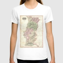 Vintage Map of Portugal (1818) T-shirt
