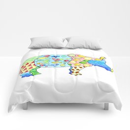 Rhino on Vacation Comforters