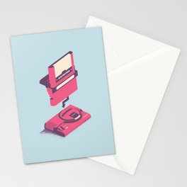 ElectroVideo MegaDrive (pink and blue) Stationery Cards