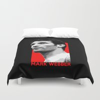 formula 1 Duvet Covers featuring Formula One - Mark Webber by Vehicle