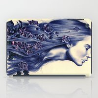 hair iPad Cases featuring Bloom by KatePowellArt