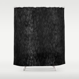 Fur Texture - Black and White #1 Shower Curtain
