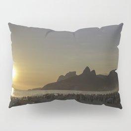 Sunset at Ipanema Beach Pillow Sham