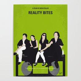 No938 My Reality Bites minimal movie poster Poster