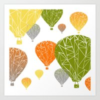 balloons Art Prints featuring BALLOONS by ARCHIGRAF