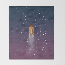 Travel to the Stars Throw Blanket