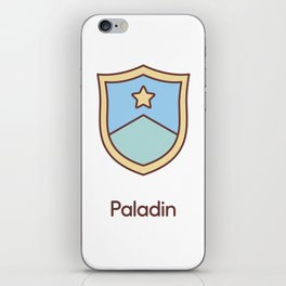 Cute Dungeons and Dragons Paladin class iPhone Skin