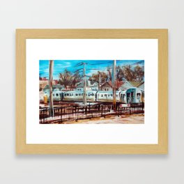 Kimball Brown Line, Chicago Framed Art Print