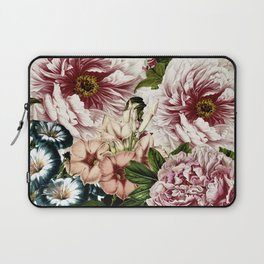 Vintage Peony and Ipomea Pattern - Smelling Dreams Laptop Sleeve