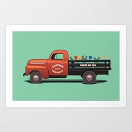 Eastern Market Flower Truck Art Print