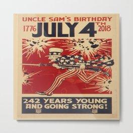 Uncle Sam's 242nd Bday Metal Print