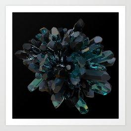 Dark Crystals Art Print