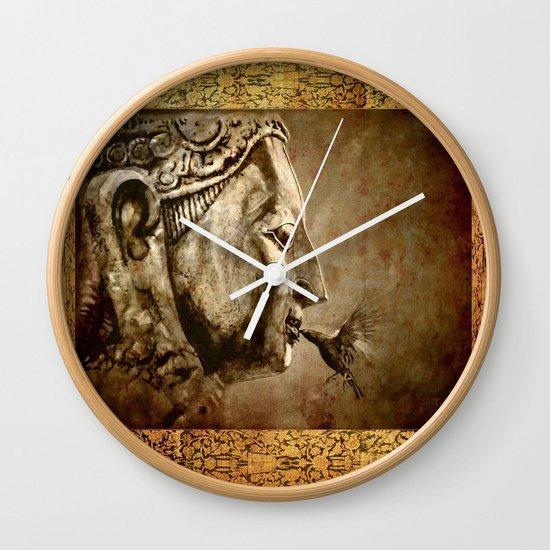 Buddha Kiss - vintage Wall Clock