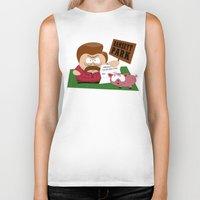 parks Biker Tanks featuring South Parks and Rec by JVZ Designs